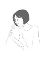 pralineさんのスタイリッシュな女性の線画・ラインアートイラスト募集/新規オープンのマツエクサロンのロゴに使用への提案