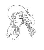 tora_jirohさんのスタイリッシュな女性の線画・ラインアートイラスト募集/新規オープンのマツエクサロンのロゴに使用への提案