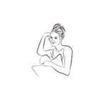 K-digitalsさんのスタイリッシュな女性の線画・ラインアートイラスト募集/新規オープンのマツエクサロンのロゴに使用への提案