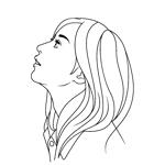 kitten_Blueさんのスタイリッシュな女性の線画・ラインアートイラスト募集/新規オープンのマツエクサロンのロゴに使用への提案