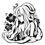 ririsardineさんのスタイリッシュな女性の線画・ラインアートイラスト募集/新規オープンのマツエクサロンのロゴに使用への提案