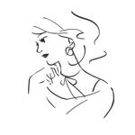 makiko_fさんのスタイリッシュな女性の線画・ラインアートイラスト募集/新規オープンのマツエクサロンのロゴに使用への提案