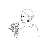 yuki-y-55さんのスタイリッシュな女性の線画・ラインアートイラスト募集/新規オープンのマツエクサロンのロゴに使用への提案