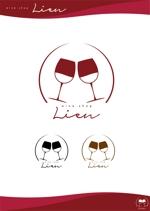 ema_worksさんのワインショップ「Lien~リアン」のロゴ作成への提案