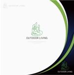 NJONESさんのアウトドア施設の運営会社「株式会社OUTDOOR LIVING」のロゴへの提案