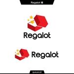 queuecatさんのエンターテインメント会社 「Regalot」のロゴへの提案