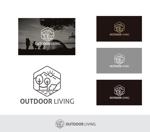 Doing1248さんのアウトドア施設の運営会社「株式会社OUTDOOR LIVING」のロゴへの提案