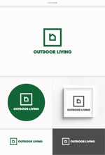 DeeDeeGraphicsさんのアウトドア施設の運営会社「株式会社OUTDOOR LIVING」のロゴへの提案
