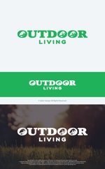take5-designさんのアウトドア施設の運営会社「株式会社OUTDOOR LIVING」のロゴへの提案