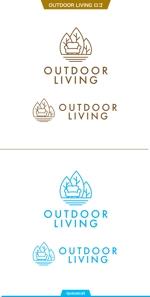 queuecatさんのアウトドア施設の運営会社「株式会社OUTDOOR LIVING」のロゴへの提案