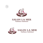 ネイルサロン「SALON LA MER」サロン ラメールのロゴへの提案