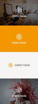tanaka10さんの美容室への卸売り会社「㈱サンライズ福岡」のロゴへの提案