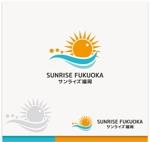 kR-designさんの美容室への卸売り会社「㈱サンライズ福岡」のロゴへの提案