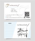 ネイル・アイラッシュサロン nail&eyelash f の名刺デザインへの提案