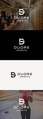 tanaka10さんのフィットネスクラブ「DUORE sports」のロゴ、フォントデザイン募集!への提案