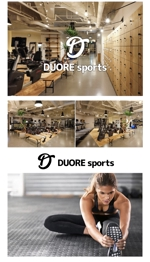 queuecatさんのフィットネスクラブ「DUORE sports」のロゴ、フォントデザイン募集!への提案