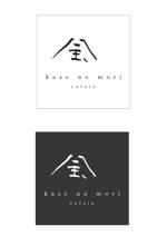 宿泊施設「風の森(kazenomori)」のロゴ作成への提案