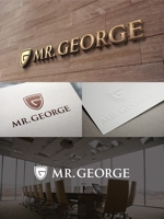 cambelworksさんの中年向けメンズアパレルECサイト「Mr. GEORGE/ミスタージョージ」のロゴへの提案
