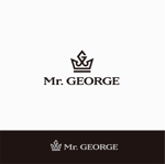 Doing1248さんの中年向けメンズアパレルECサイト「Mr. GEORGE/ミスタージョージ」のロゴへの提案