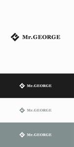 designdesignさんの中年向けメンズアパレルECサイト「Mr. GEORGE/ミスタージョージ」のロゴへの提案