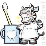クマ、シマウマのキャラクターデザイン  歯科への提案