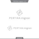 queuecatさんのアクセサリーブランド 「PERTIKA mignon」の ロゴへの提案