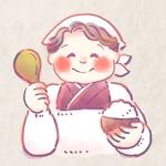 おかあちゃん(割烹着姿)のキャラクターデザイン【バストアップでOK】への提案