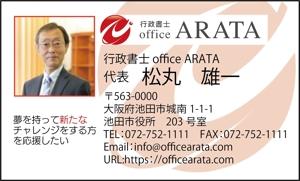 55ponさんの行政書士 office ARATAの名刺作成への提案