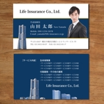 morris_designさんの生命保険営業マンの名刺作成依頼!への提案