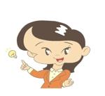 新潟県新発田市の地域情報ブログ執筆者(女性)のキャラクターデザインへの提案