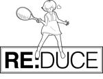 テニスのファッションブランド「RE:DUCE」ロゴへの提案