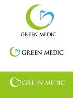 dd51さんのゴルフ場業界向けコンサルティング会社「グリーンメディック株式会社」のロゴへの提案
