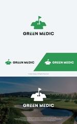 take5-designさんのゴルフ場業界向けコンサルティング会社「グリーンメディック株式会社」のロゴへの提案