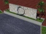 amazonさんの会社の庭のオブジェのデザインへの提案