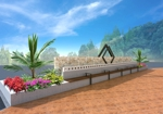 9design-workさんの会社の庭のオブジェのデザインへの提案