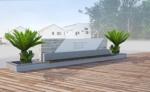 CROSSRさんの会社の庭のオブジェのデザインへの提案