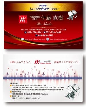 birzさんのクラシックの音楽事務所「ミュージック・ステーション」名刺デザインへの提案