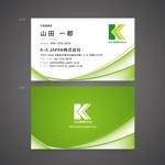ging_155さんの天然成分配合の消毒液 K・A JAPAN株式会社の名刺への提案