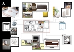 Yuko-LAさんの内装デザイン ワンルームアパートのインテリアデザインの仕事への提案