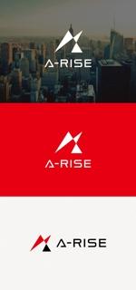 tanaka10さんの会社名A-RISEのロゴへの提案