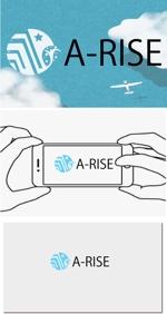 xicosolaoさんの会社名A-RISEのロゴへの提案