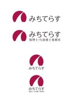 capnagさんの経理労務法務コンサル会社 みちてらす のロゴ作成への提案