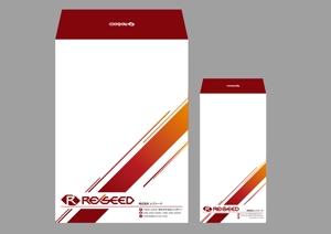 sakae1977さんの会社の封筒2種類のデザインへの提案