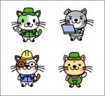 建機販売会社の親しみやすいイメージキャラクターの作成(犬or猫)への提案