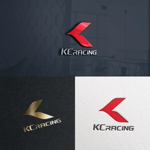 utamaruさんのモータースポーツでカーレースチーム「KCracing」のロゴへの提案