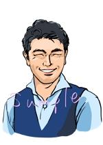 男性の似顔絵イラストの作成をお願いします。への提案