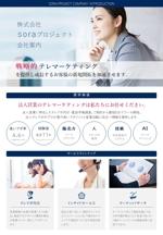 sekotakayukiさんのA4 2枚程度の会社案内資料作成への提案