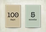 記念日フォト用の月齢(年齢)カード16枚のデザインへの提案