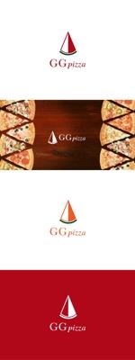 red3841さんの手作りの冷凍ピザ通販サイト「GGpizza」のロゴ作成依頼への提案