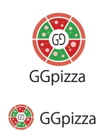 dd51さんの手作りの冷凍ピザ通販サイト「GGpizza」のロゴ作成依頼への提案